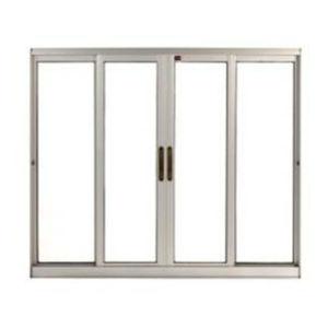 Janela Correr Aluminio Bronze  S/Bandeira S/Grade C/Vidro Liso Incolor 4 Folhas 100 X 200 X  Cmperfecta Max Jap