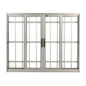 Janela Correr Aluminio Bronze  S/Bandeira C/Grade C/Vidro Liso Incolor 4 Folhas 100 X 200 X  Cmperfecta Max Jap
