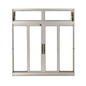 Janela Correr Aluminio Bronze  C/Bandeira S/Grade C/Vidro Liso Incolor 4 Folhas 100 X 200 X  Cmperfecta Max Jap