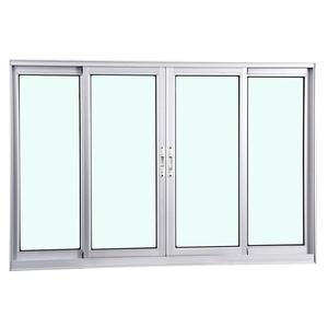 Janela Correr Aluminio Fosco S/Grade C/Vidro Liso 4 Folhas 100,00 X 150,00 X 7,40 Cmeterna Gravia