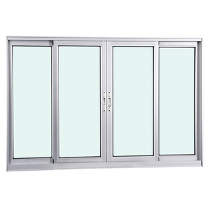 Janela Correr Aluminio Fosco S/Grade C/Vidro Liso 4 Folhas 100,00 X 200,00 X 7,40 Cmeterna Gravia