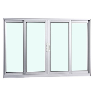 Janela Correr Aluminio Fosco S/Grade C/Vidro Liso 4 Folhas 120,00 X 150,00 X 7,40 Cmeterna Gravia