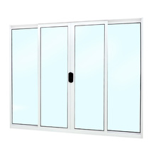 Janela de Correr de Alumínio 1,00x1,20m Branco Fortline Atlântica