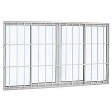 Janela de Correr Lisa de Alumínio 1,20x2,00m Sasazaki