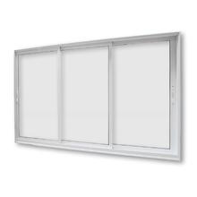 Janela de Correr de Alumínio Branco 3 Folhas 1,50x1,00m 3A Alumínio