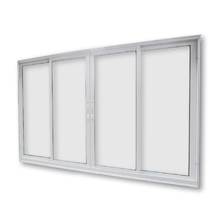 Janela de Correr de Alumínio Branco 4 Folhas 1,50x1,20m 3A Alumínio