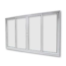 Janela de Correr de Alumínio Branco 4 Folhas 2,00x1,20m 3A Alumínio