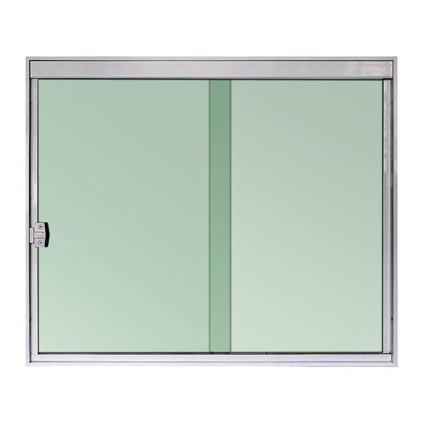 Janela De Correr 2 Folhas 1 00x1 50m Vidro Verde 8mm Temperado Aluminio Natural Tpclean Leroy Merlin