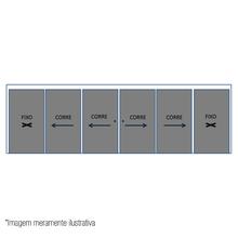 Janela de Correr Lisa Vidro Temperado Central Cinza 8mm C&R