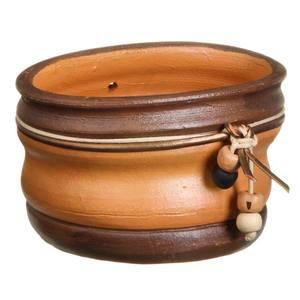 Jardineira Cerâmica Country 9x16cm Natural Associação Adelino