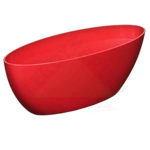 Jardineira Resina Barca 15x17x45cm Vermelho Vasart