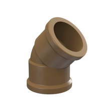 "Joelho 45° Marrom PVC Água Fria 20mm ou 1/2"" Plastilit"