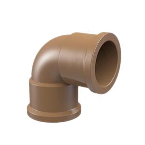 "Joelho 90° Marrom PVC Água Fria 25mm ou 3/4"" Plastilit"