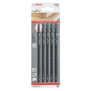 Jogo 5 Lâminas Tico-Tico Corte Rápido Madeira 5-50mm T344D Bosch