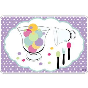 Jogo Americano Clean Pop Ice Cream Polipropileno 29x44cm Colorido Copa & Cia.