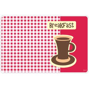 Jogo Americano Clean Pop Kitchen Breakfast Polipropileno 29x44cm Colorido Copa & Cia.