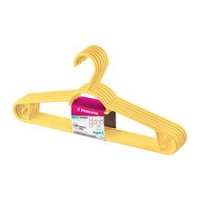Jogo de Cabide Multifuncional 6 Unidades Amarelo Primafer