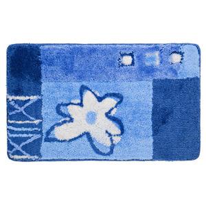 Jogo de Tapete de Banheiro 2 peças Retangular Acrílico Azul Bella Casa