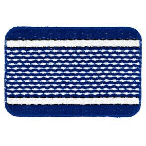 Jogo de Tapete de Banheiro 3 Retangular Plástico Azul Braz Textil