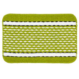 Jogo de Tapete de Banheiro 3 Retangular Plástico Verde Braz Textil