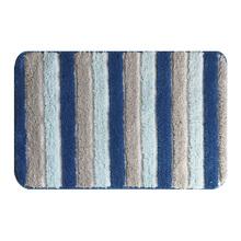 Jogo de Tapete de Banheiro Antiderrapante Tecido Azul 2 peças