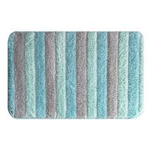 Jogo de Tapete de Banheiro Antiderrapante Tecido Verde 2 peças