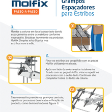 "Kit 1000 - Molfix LATERAL-Bitola 1/4""xEstribo 4,2mm"