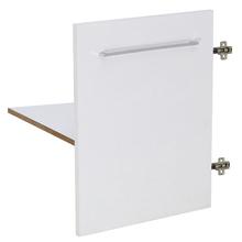 Kit 1 Porta e Prateleira Branco Remix Móveis Bechara