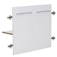 Kit 2 Portas e Prateleira 60x32cm Branco Remix Móveis Bechara