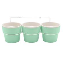 Kit 3 Vasos Plástico Autoirrigável Pequeno Verde