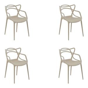 Kit 6 Cadeiras Decorativas Sala e Cozinha Feliti (PP