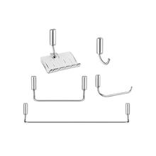 Kit Acessório de Parede 5 peças Idea Chrome Prata