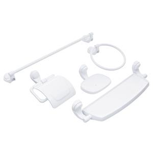 Kit Acessório de Parede 6 Peças Plástico Attic Branco