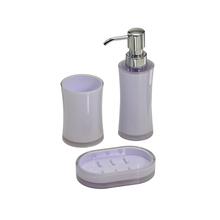 Kit Acessório para Bancada Branco em Plástico 3 peças Redondo Mabruk