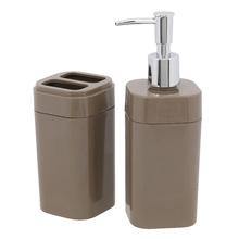 Kit Acessórios  de Bancada 2 peças Cinza em Plástico Splash Brinox