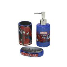 Kit Acessórios de Bancada 3 Peças Homem Aranha Multicolorido