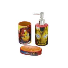 Kit Acessórios de Bancada 3 Peças Homem de Ferro Multicolorido