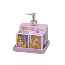 Kit Acessórios de Bancada 4 Peças Princesas Multicolorido