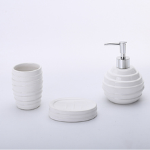 Kit Acessórios para Bancada Branco em Cerâmica 3 peças Bella Elantra