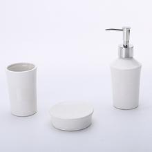 Kit Acessórios para Bancada Branco em Cerâmica 3 peças Capri Elantra