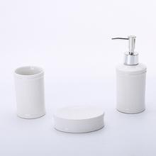 Kit Acessórios para Bancada Branco em Cerâmica 3 peças Donna Elantra