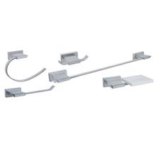 Kit Acessórios Parede 5 peças Inovare Prata