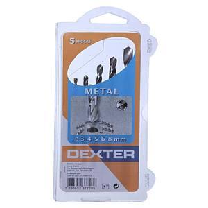Kit Broca Metal Dexter 3,4,5,6,8 mm