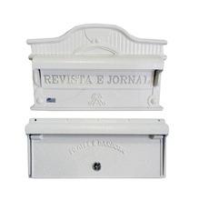 Kit Caixas de Correio para Muro Branco Imperatriz 23x27cm Prates & Barbosa