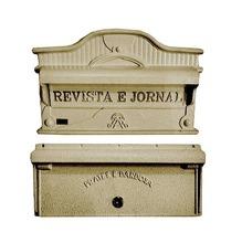 Kit Caixas de Correio para Muro Dourado Imperatriz 23x27cm Prates & Barbosa