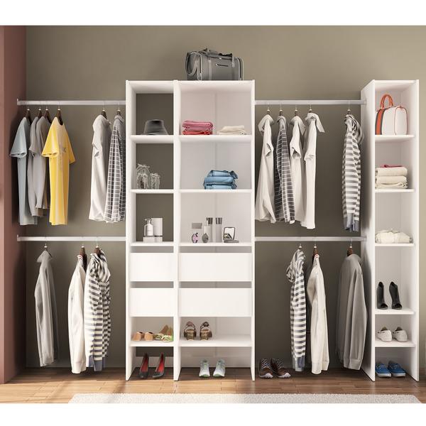 M dulo closet branco 190x175x45cm prime leroy merlin for Modulos leroy merlin