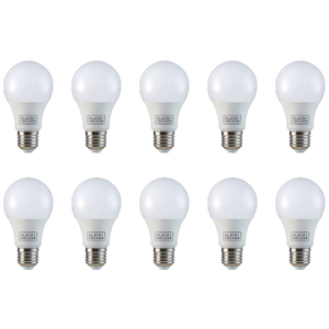 Kit com 10 Lâmpadas LED Bulbo Luz Amarela 4,7W Black&Decker Bivolt