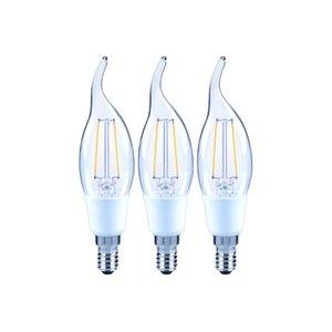 Kit com 3 Lâmpadas LED de Filamento Vela Chama Luz Amarela 2W Lexman