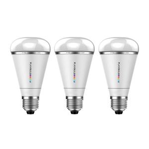 Kit com 3 Lâmpadas LED Inteligente Pêra RGB Rainbow 3W Bivolt Playbulb