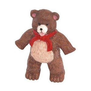 Kit com 4 Puxadores para Móveis Infantil Resina Colorido Urso Bskf